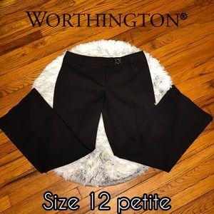Worthington Black petite stretch business pants